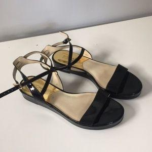 Michael Kors Black Patent Sandals Size 8
